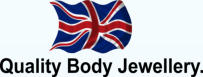 quality body jewellery flag