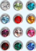 studex ear studs assorted birth stones